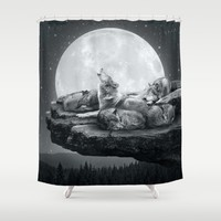 Echoes of a Lullaby Shower Curtain by Soaring Anchor Designs | Society6