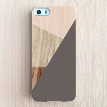 iPhone 6 Case, iPhone 6 Plus Case, iPhone 5S Case, iPhone 6, iPhone 5C Case, iPhone 4S Case, iPhone 4 Case - Wood Color Block Chocolate