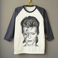 David Bowie Shirt Ziggy Stardust Shirt Rock Tee Raglan Shirt Baseball Shirt Unisex Shirt Women Shirt Men Shirt Jersey Tee Long Sleeve Shirt