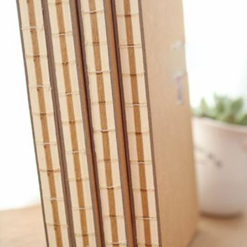 Vintage Journal Diary Book Paper School Stationery Blank Pages Sketch Notebooks Blank Kraft Paper
