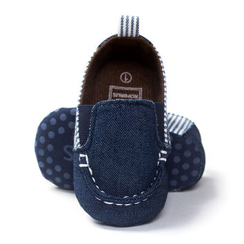 Baby Shoes Leisure Newborn Baby Boy Shoes Kids First Walkers Soft Bottom Anti-slip Infant Toddler Bebe Shoes Slip-On Crib Loafer