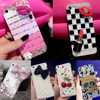 Glitter Rhinestone Case Cover For Samsung galaxy J1 mini J105,Acrylic DIY Unique Diamond Protective Shiny mobile phone shell