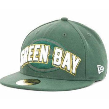 DCCKG8Q NFL Green Bay Packers 59Fifty Fitted Green Draft Hat