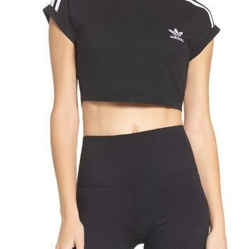 adidas 3-Stripes Crop Top | Nordstrom
