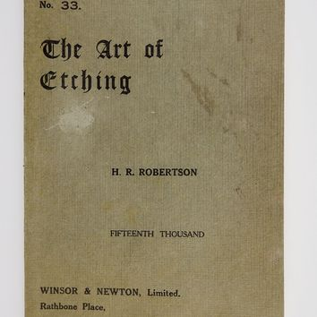 The Art of Etching Book With Original Etchings