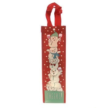 Christmas CHEERS! WINE BAG SNOWPINION Plastic Celebrate Holiday 6002258