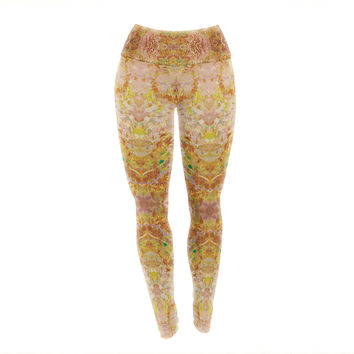 "Nikposium ""Goldenrod II"" Yellow Gold Yoga Leggings"