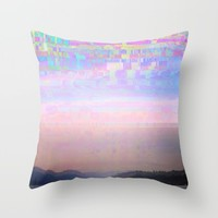 Displaced Throw Pillow by Dood_L