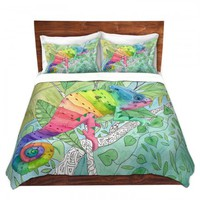 Duvet Covers and Shams | Catherine Holcombe - Rainbow Chameleon