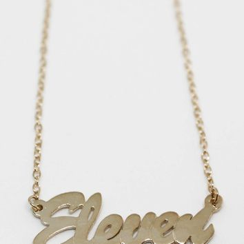 Stranger Things Eleven Name Necklace