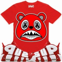 Angry Baws Red Sneaker Tees Shirt - Uptempo Supreme