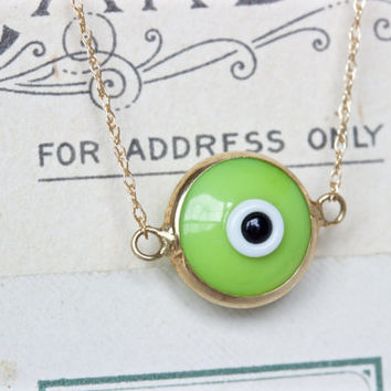 All Seeing Eye Necklace | Best Friends Jewelry | Dainty Gold Layered Necklace | Stacked Necklace | Evil Eye Jewelry | Bridal Gift