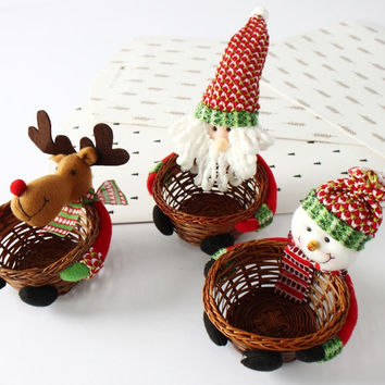 Christmas Decorations Candy Basket Gift Box [9601226703]