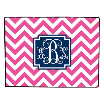 Monogrammed Doormat - Door Mat - Floor Mat - Mat - Rug - Welcome Mat - Chevron - Preppy - CHEVRON CHIC
