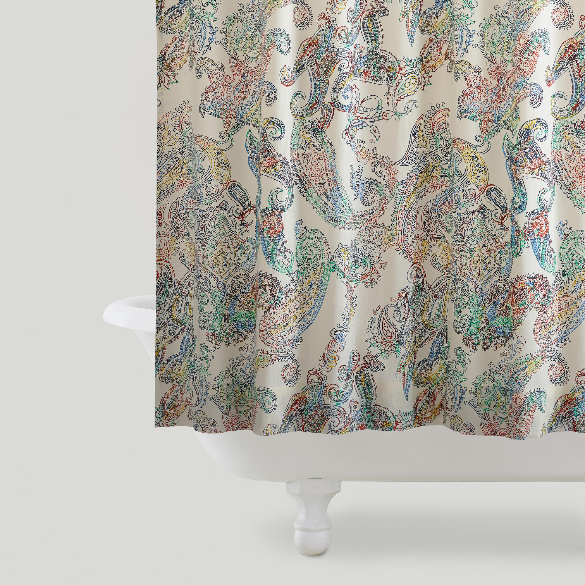 Multicolor Paisley Shower Curtain World From Cost Plus World