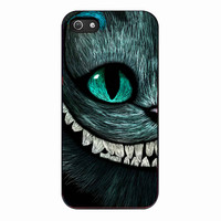 Alice Wonderland And Cheshire Cat Face for Iphone 5 Case *NP*