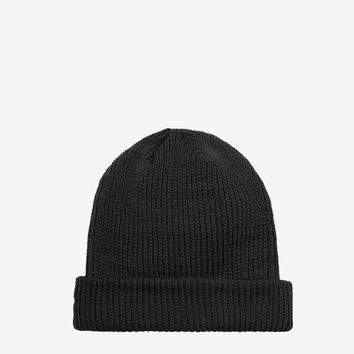 Brushed Basic Beanie in Black