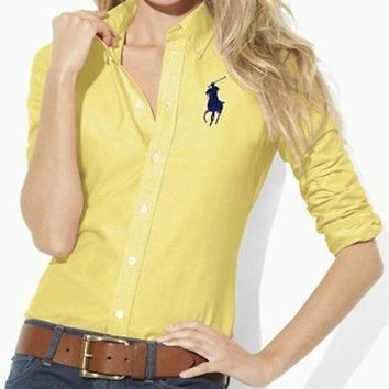 DCKI72 Trendsetter POLO Women Casual Long sleeve Shirt