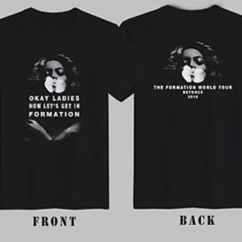 New Beyonce T-Shirt The Formation World Tour Beyonce 2016 T-Shirt Men Or Women