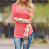 Making It Look Easy Top - Coral