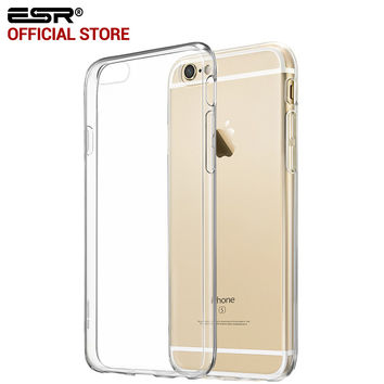ESR Crystal Clear Case Ultra Thin Slim Light Weight Soft TPU Cover for iPhone 6/6s