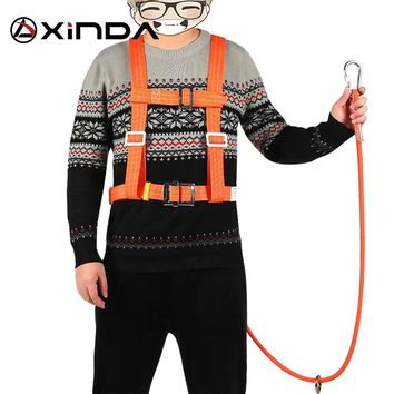 Xinda outdoor aerial protection belt anti falling safety hook High altitude operation Wear-resistant climbing polesafety belt