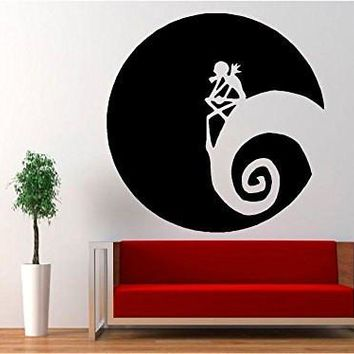 Jack Skellington - Moon Halloween Nightmare Before Christmas Decal Sticker for Window Wall Room Truck