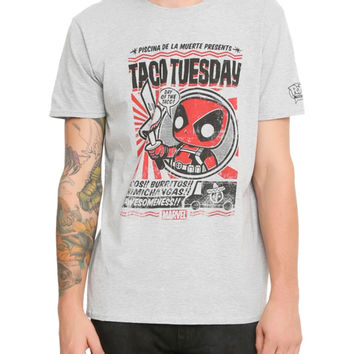 Funko Marvel Pop! Deadpool Taco Tuesday T-Shirt Hot Topic Exclusive