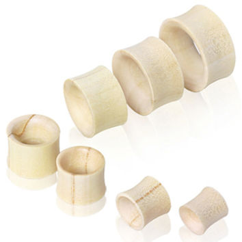 Organic Crocodile Wood Flesh Tunnel Ear Plug