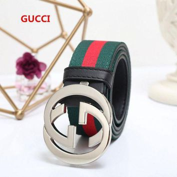 DCC3W GUCCI Black/Silver Belt #1