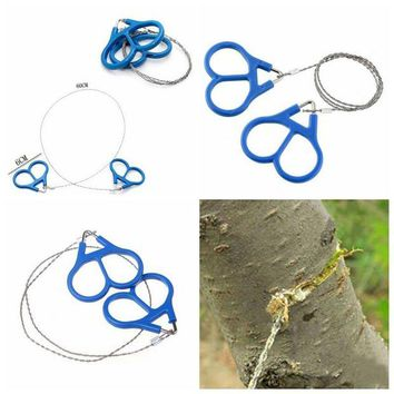 DCCK7N3 Outdoor Camping Hunting Survival Necessary Tool High Strength Steel Wire Fretsaw Hiking Adventure Scroll String Saws