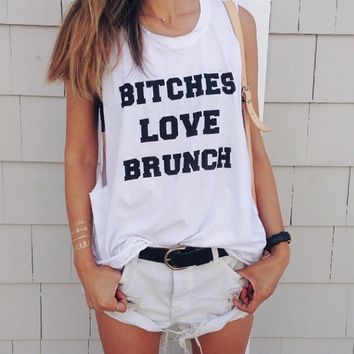 PYLO BITCHES LOVE BRUNCH MUSCLE TEE