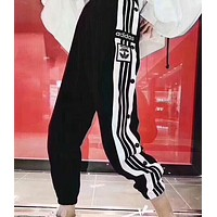 Adidas Originals Stripe New Style Clover Logo Embroidery Sport Casual Pant Trousers I-XMCP-YC