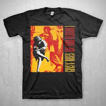 Guns N' Roses Use Your Illusion - Mens Black T-Shirt