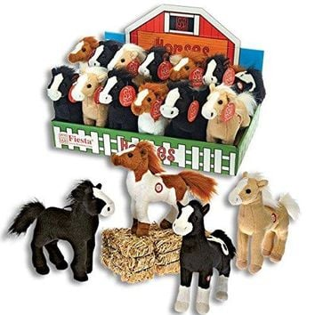 Fiesta Toy 8 Inch Standing Plush Horses Makes Neighing Sounds Pony Stuffed AnimalsFiesta Toy 8 Inch Standing Plush Horses Makes Neighing Sounds Pony Stuffed Animals (12 Horse Set)