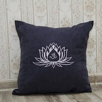 Lotus Flower Pillow Covers Om Sign Yoga Pillowcase Decorative Pillow Cover Home Decor Throw Pillows Yoga Studio Bedroom Decor Gift V19