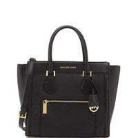Colette Large Zip-Top Satchel Bag, Black - MICHAEL Michael Kors