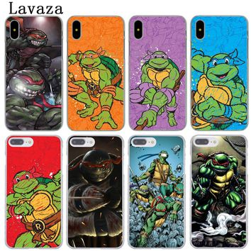 Lavaza Teenage Mutant Ninja Turtles Hard Phone Cover Case for Apple iPhone XR XS Max X 8 7 6 6S Plus 5 5S SE 5C 4S 10 Cases