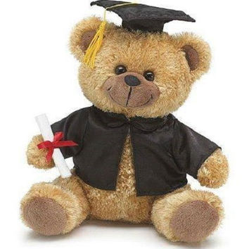 Burton and Burton Graduation Bear with Cap Gown and Diploma Plush Toy