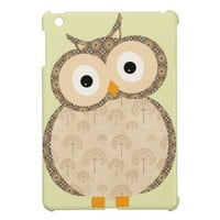 Cute owl and floral pattern iPad mini cases from Zazzle.com
