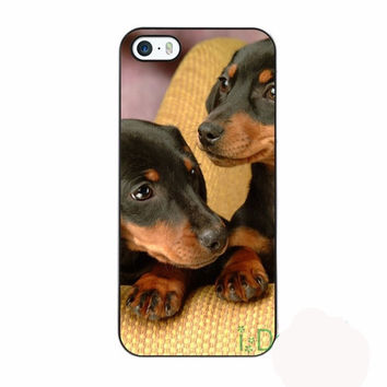 Fit for iPhone skins cellphone case cover dachshund miniature puppies dog shorthair