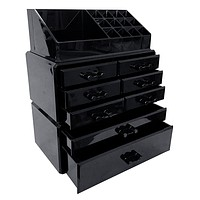 Professional Black Makeup Acrylic Organizer Drawers