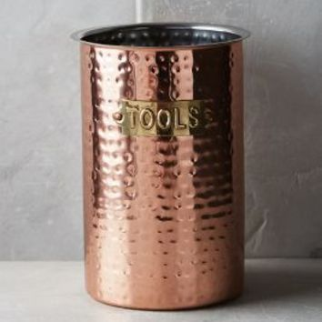 Hammered Copper Tool Jar By Anthropologie In Size One Kitchen