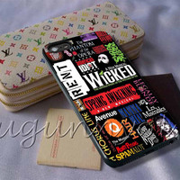 Wicked Musicals Collage Cover - iPhone 4 4S iPhone 5 5S 5C and Samsung Galaxy S3 S4 S5 Case