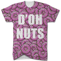D'OH NUT all over print t shirt