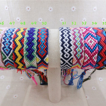 Friendship Bracelet Handmade 45-60 Woven Rope String Hippy Boho Embroidery Charm Cotton Friendship Bracelets For Women And Men