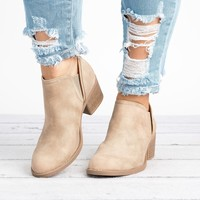 Philly Slip-on Booties - Stone