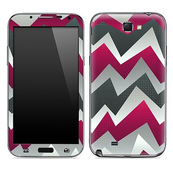 Purple Abstract ZigZag Chevron Pattern Skin for the Samsung Galaxy Note 1 or 2