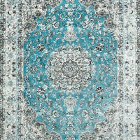 5428 Blue Isfahan Distressed Area Rugs