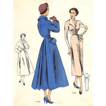 Pre-owned 1950 French Fashion Inspirations - Coat and Dress